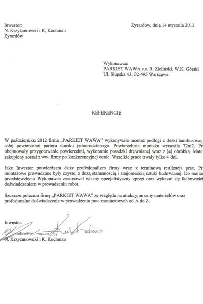 Referencje_Krzyzanowski